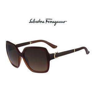 Salvatore Ferragamo SF765SL Sunglasses 210 Brown